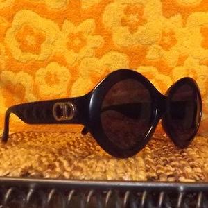 """Christian Dior black frame """"Greta"""" Sunglasses EUC"""